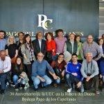 El 8 de abril de 2017, la UEC-Unión Española de Catadores, visita la Bodega Pago de los Capellanes en los eventos celebrados de su 30 Aniversario.