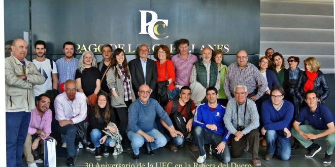 30 Aniversario de la UEC en la Ribera del Duero, visita a la Bodega Pago de los Capellanes