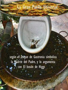 """""""La Gran Paella Universal"""" la define Arturo Pardos y dice de ella que simboliza la muerte del padre, apoyado en """"El bosón de Higgs"""""""