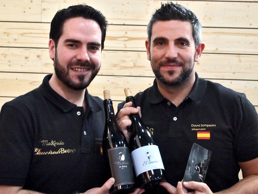Bruno Murciano y su enólogo y socio David Sampedro Gil