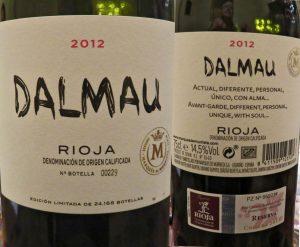 Vino tinto dalmau reserva 2012 denominacion de origen rioja