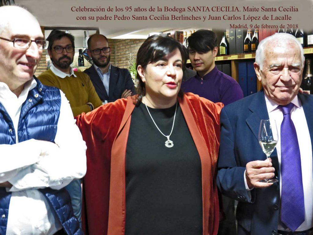 Maite con su padre, Pedro Santa Cecilia y Juan Carlos López de la Calle